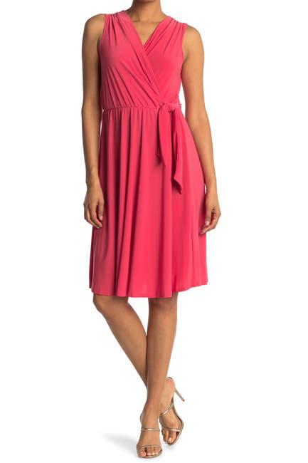Image of TASH + SOPHIE Faux Wrap Midi Dress