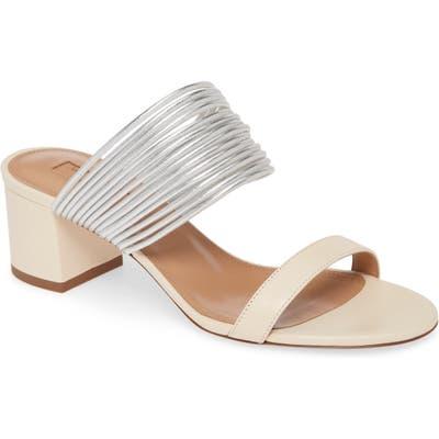 Aquazzura Rendez Vous Slide Sandal, White