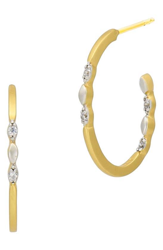 Freida Rothman Earrings ARMOR OF HOPE MINI HOOP EARRINGS