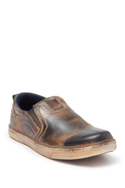 Image of Roan Piers Distressed Leather Slip-On Sneaker