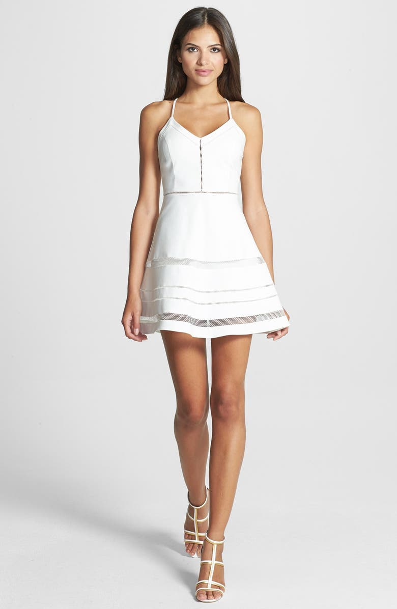 PARKER 'Whitefield' Fit & Flare Dress, Main, color, 100