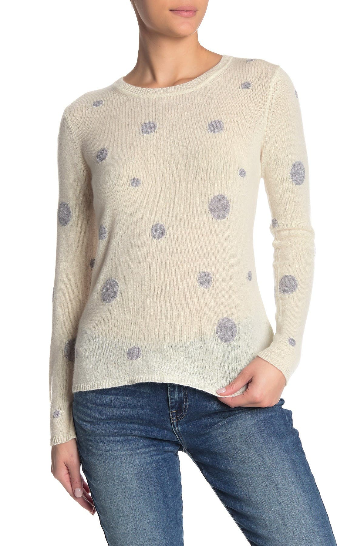 Image of Quinn Sparkle Polka Dot Cashmere Sweater