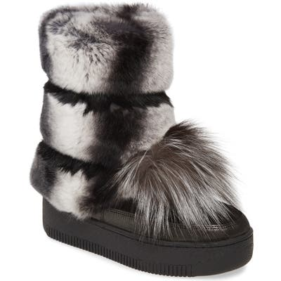 Sheridan Mia Tallulah Genuine Rabbit & Genuine Fox Fur Boot, Black