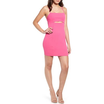 Leith Cutout Detail Minidress, Pink