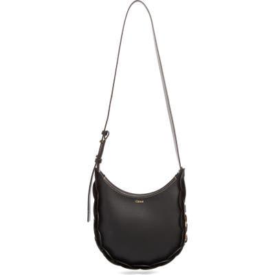 Chloe Small Darryl Leather Shoulder Bag - Black