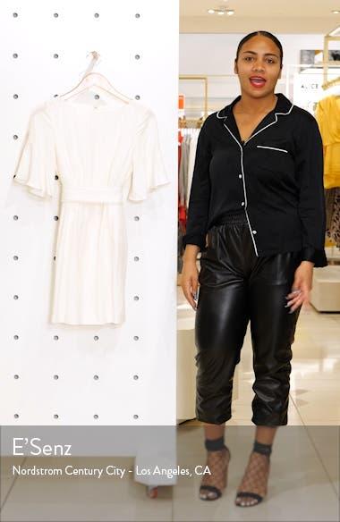Pompom Detail Bell Sleeve Linen Blend Minidress, sales video thumbnail