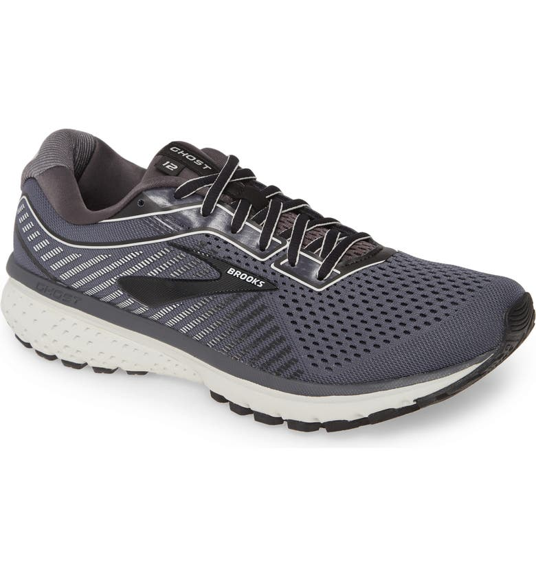 BROOKS Ghost 12 Running Shoe, Main, color, BLACK/ PEARL/ OYSTER