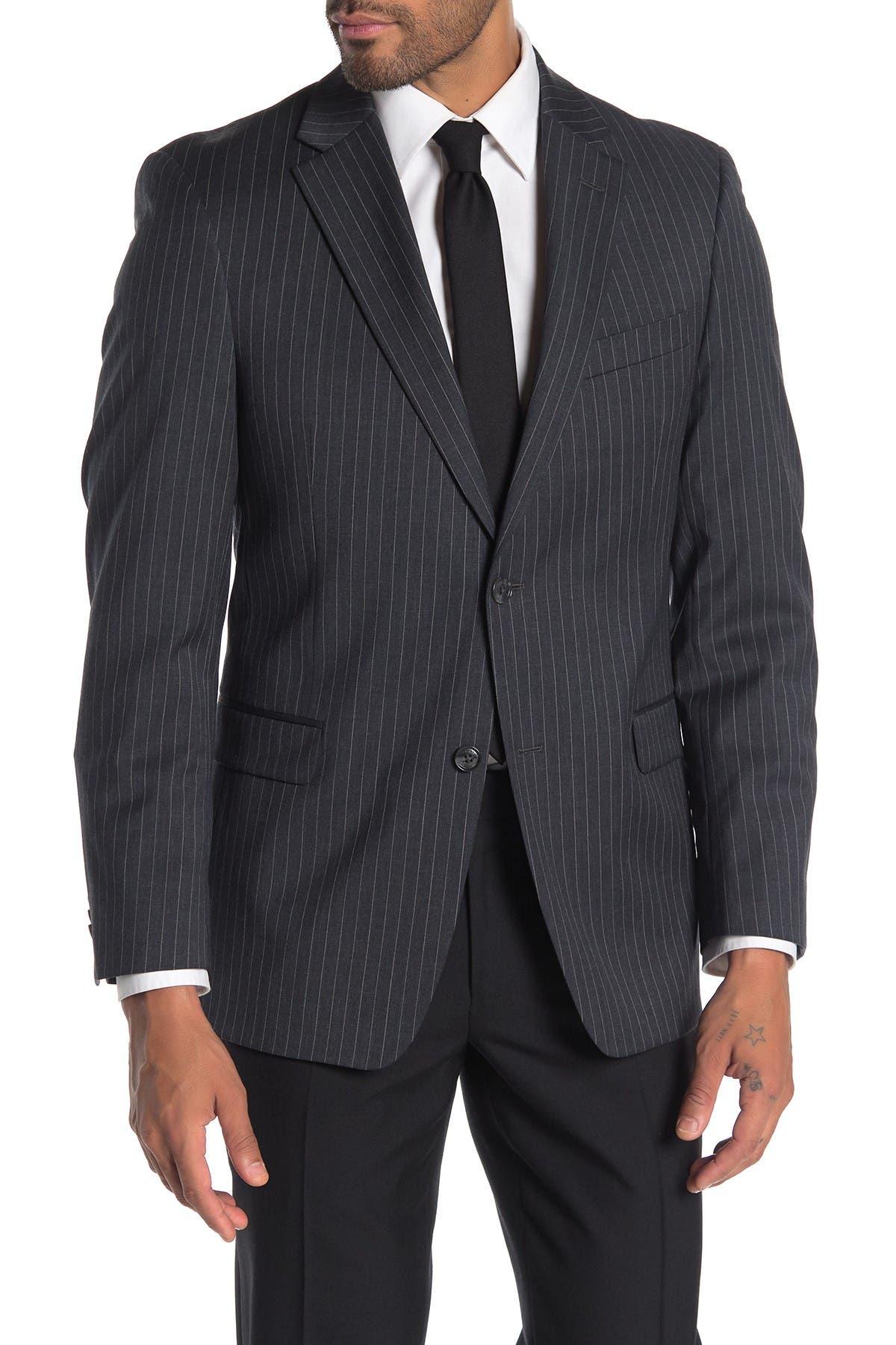 Image of Tommy Hilfiger Slim Fit Wool Blend Pinstripe Suit Separate Jacket