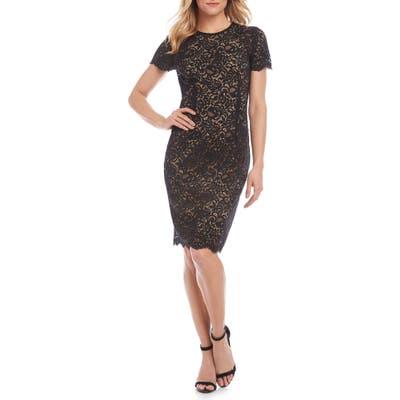 Karen Kane Paris Lace Cocktail Dress, Brown