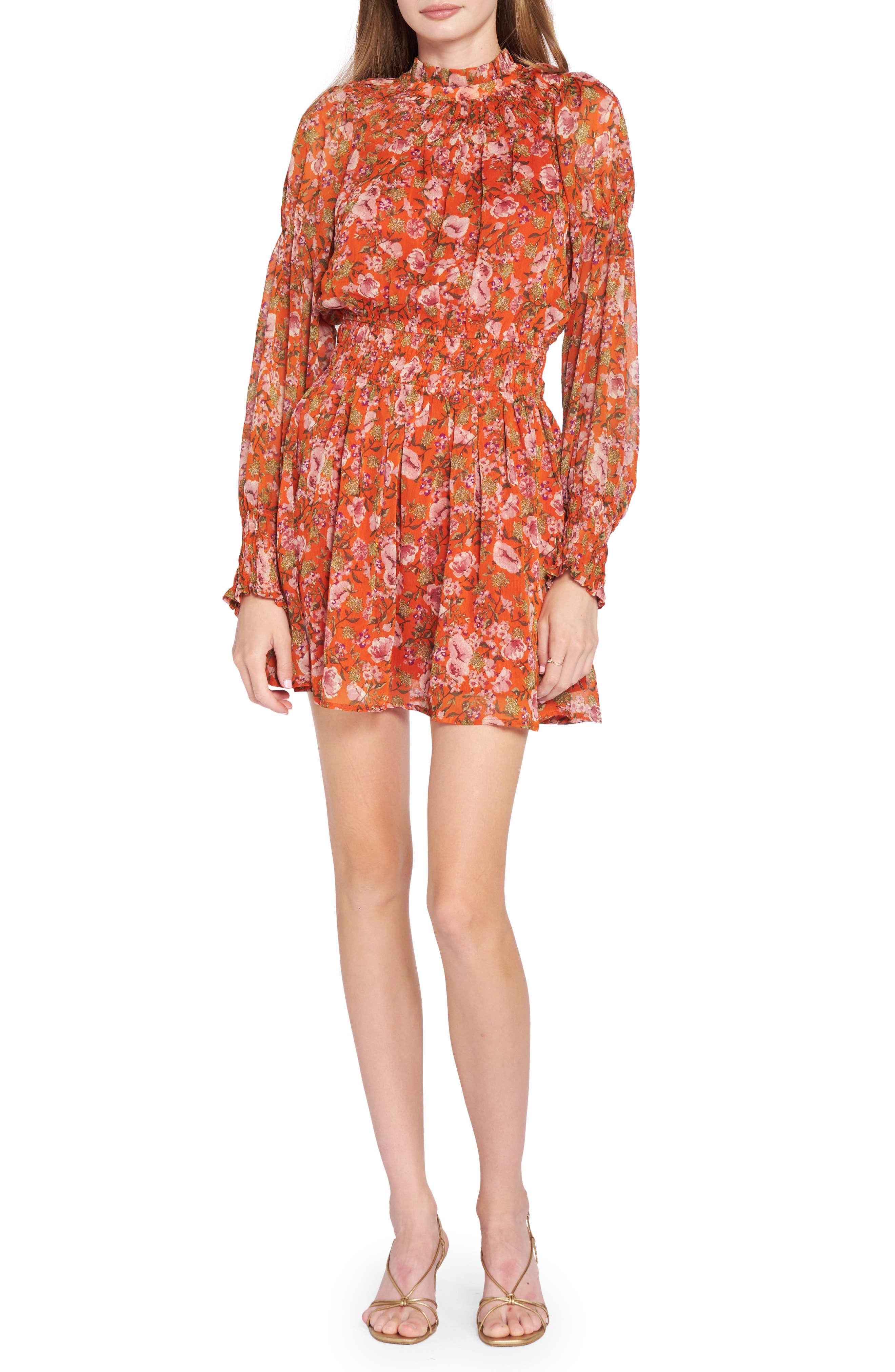 Floral Long Sleeve Minidress