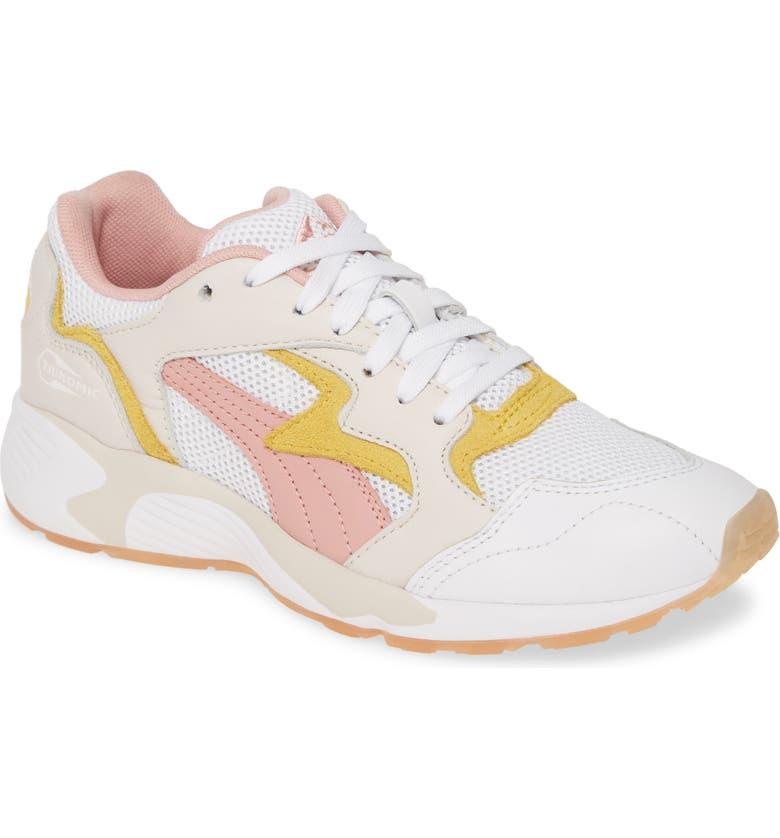 PUMA Prevail Classic Sneaker, Main, color, PUMA WHITE/ SULPHUR