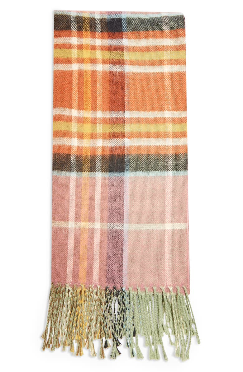 TOPSHOP Lightweight Check Scarf, Main, color, 200
