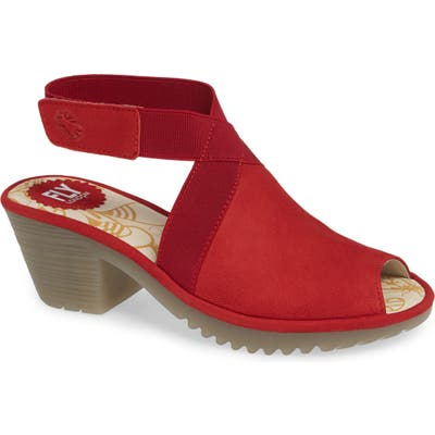 Fly London Wato Sandal, Red