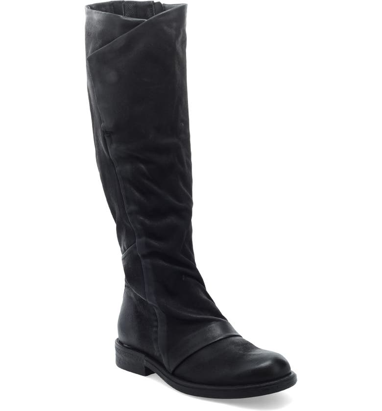 MIZ MOOZ Pim Knee High Boot, Main, color, BLACK LEATHER