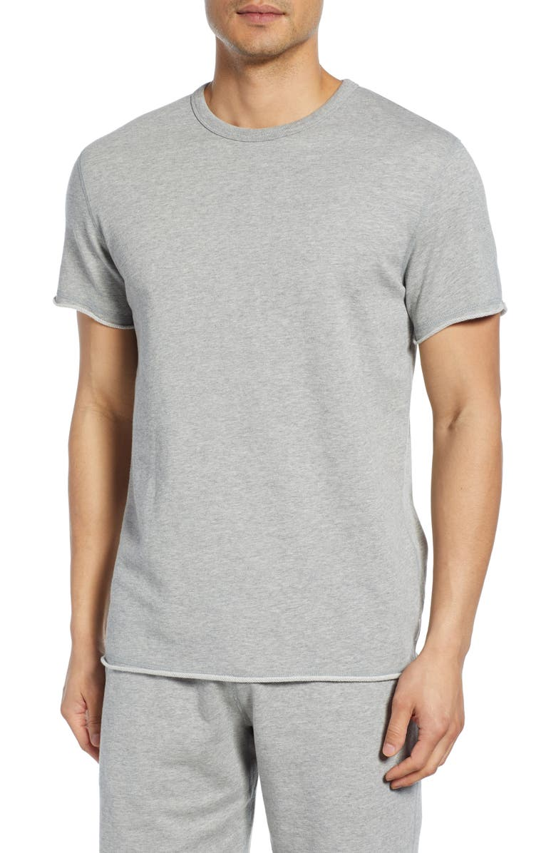 REIGNING CHAMP Cutoff Fleece Sweatshirt, Main, color, HEATHER GREY