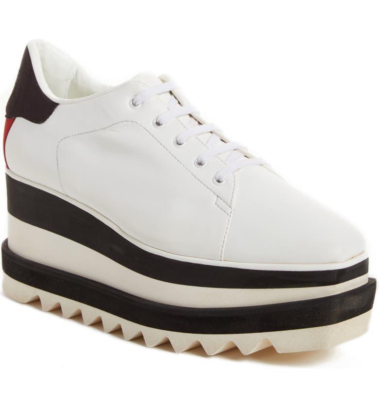 STELLA MCCARTNEY Sneak-Elyse Platform Sneaker, Main, color, WHITE/ BLACK