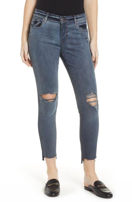 Image of STS BLUE Emma Cut Off Hem Crop Skinny Jeans
