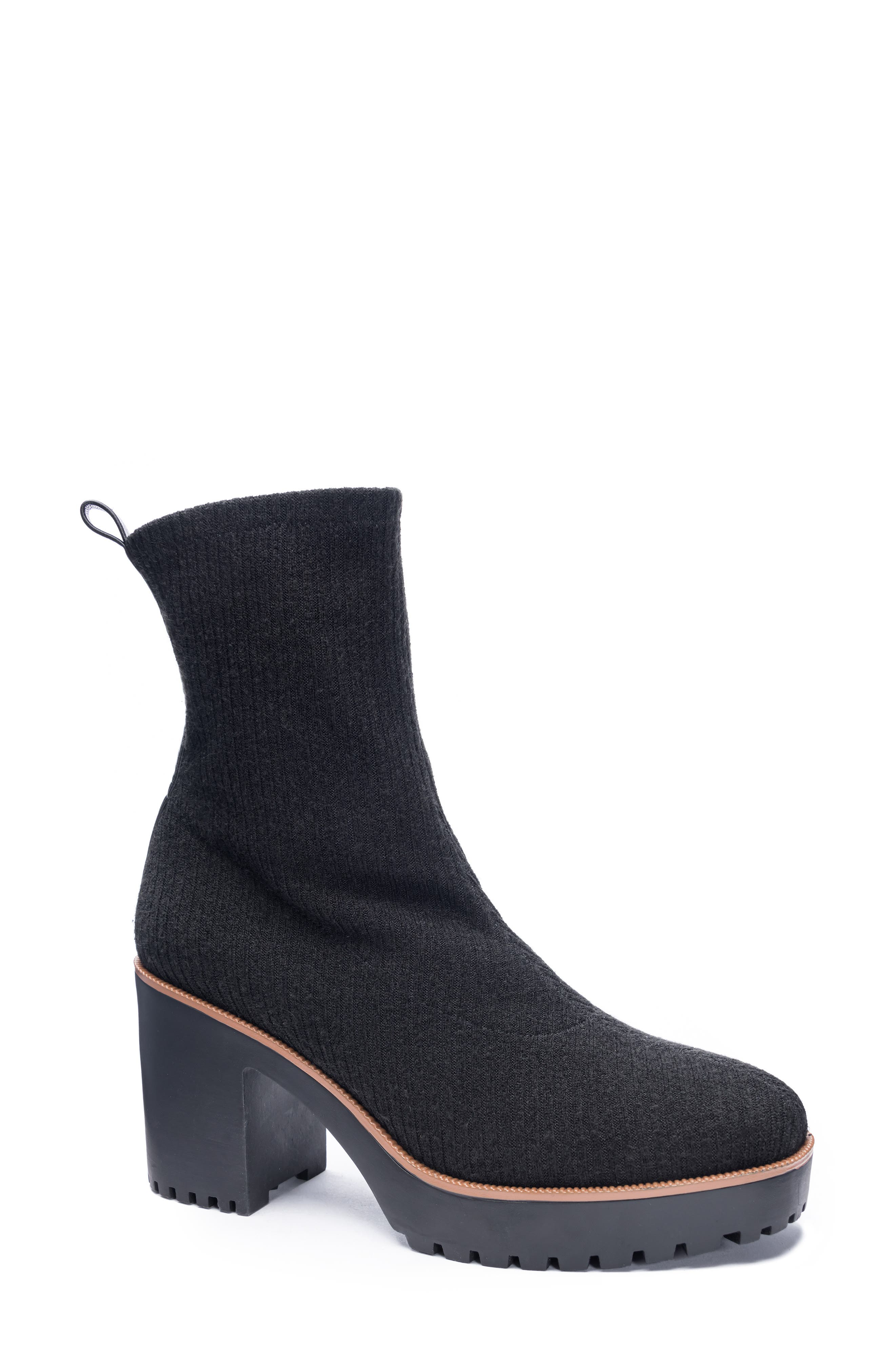 Garvey Knit Platform Bootie