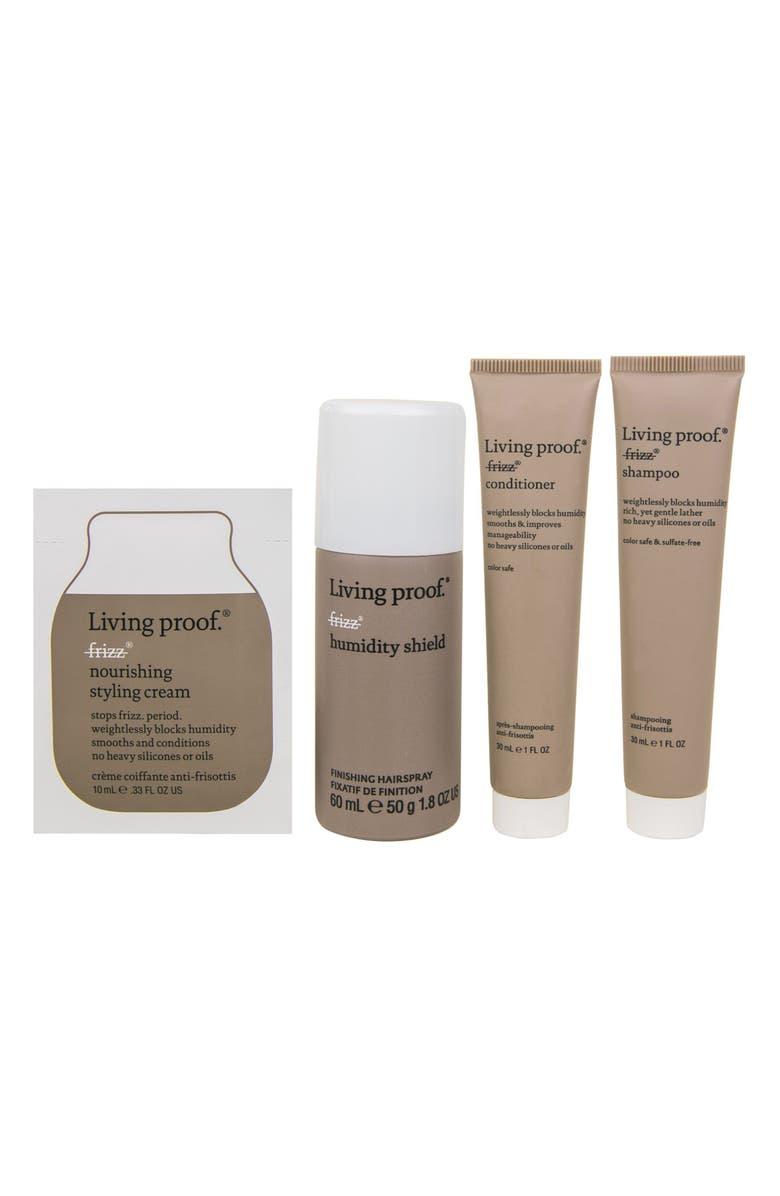 LIVING PROOF<SUP>®</SUP> Frizz-Free + Smooth Mini Transformation Kit, Main, color, 000