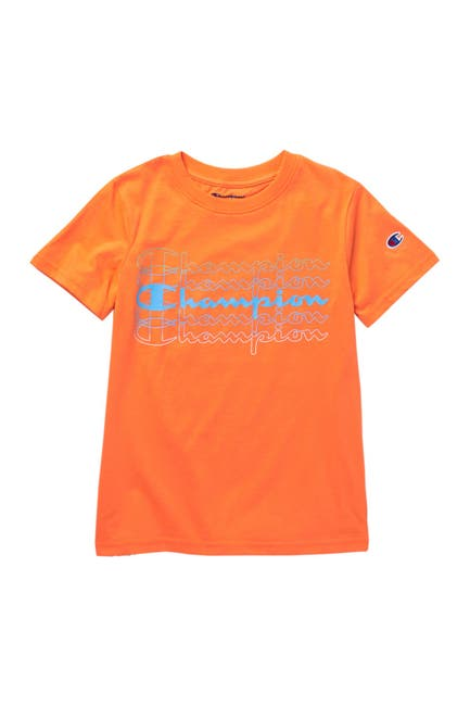 Image of Champion Stacked Script Short Sleeve Tee