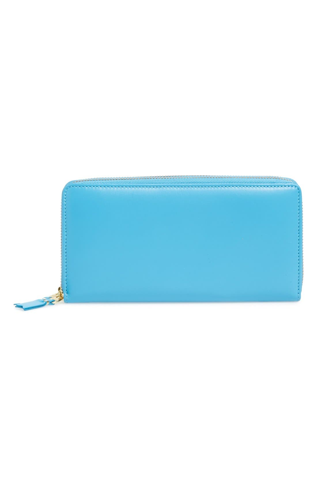 ,                             Leather Continental Long Wallet,                             Main thumbnail 7, color,                             400