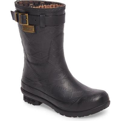 Pendleton Embossed Short Waterproof Rain Boot, Black