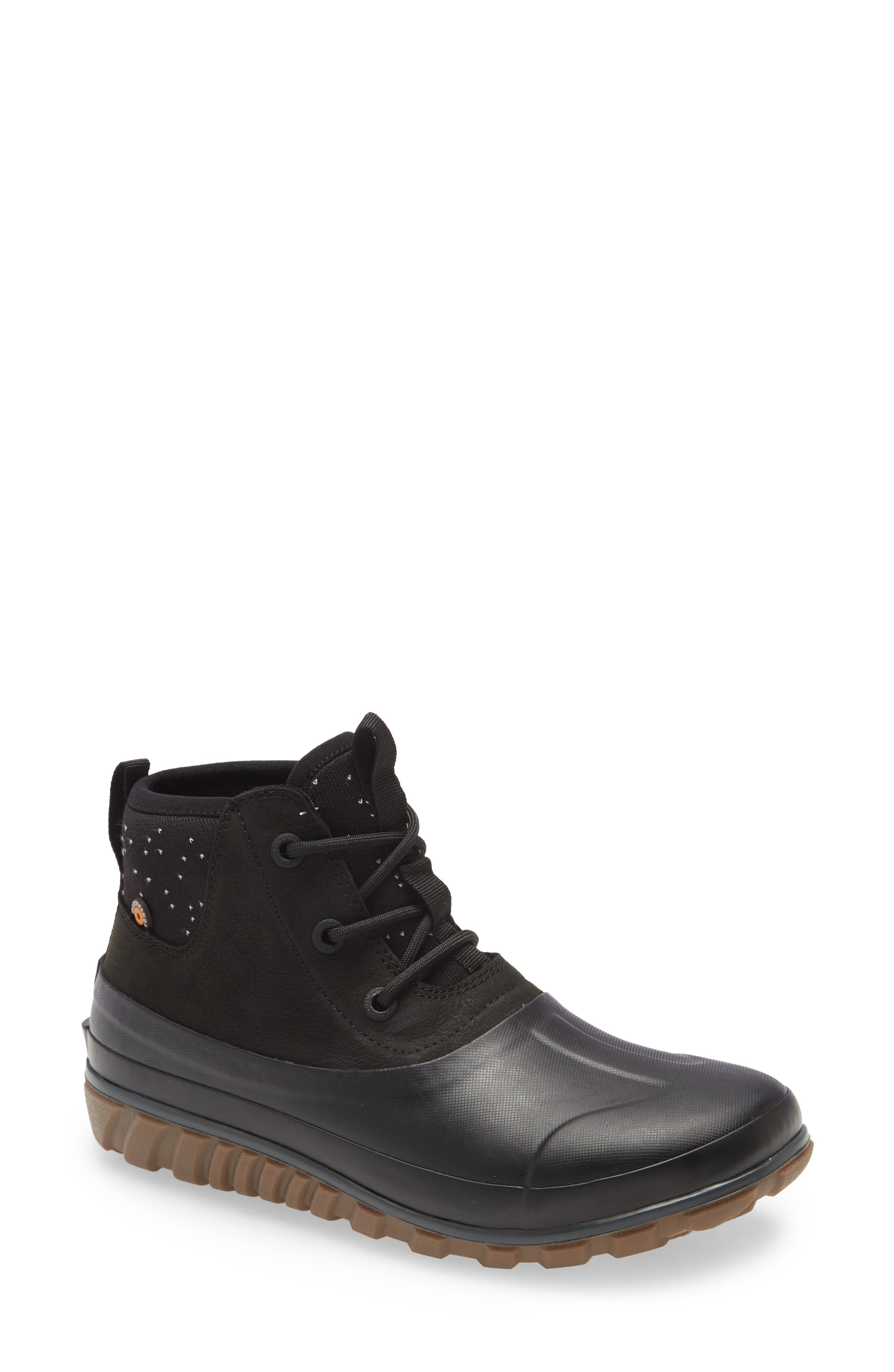 Casual Waterproof Lace-Up Bootie