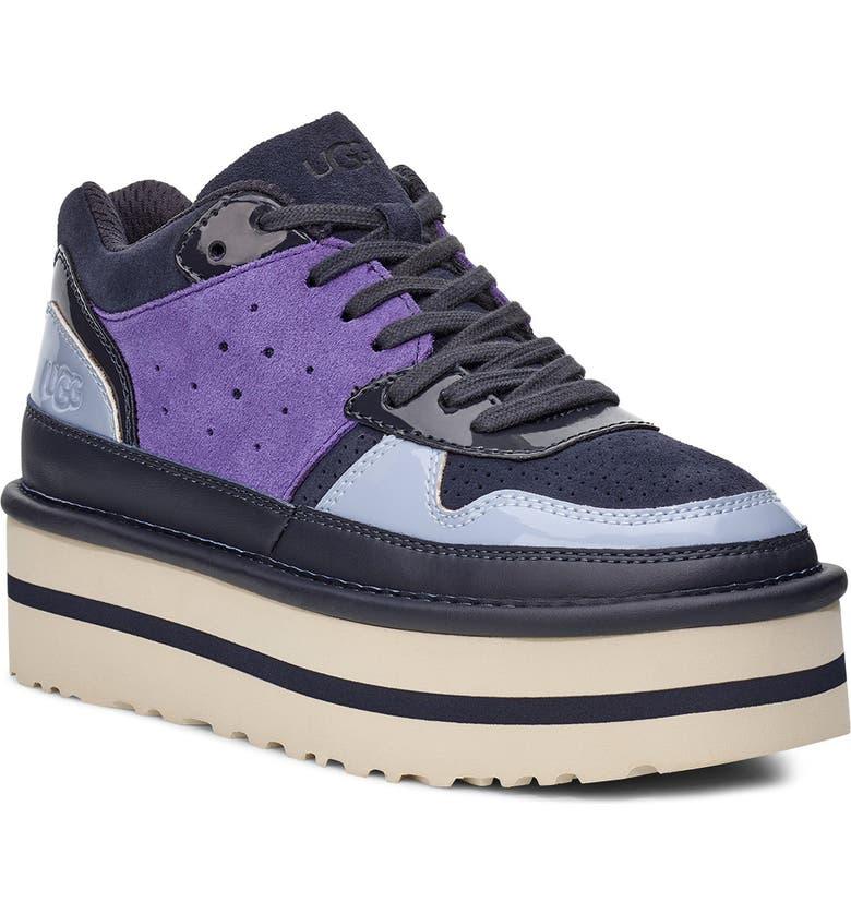 UGG<SUP>®</SUP> Classic Pop Punk Platform Sneaker, Main, color, DARK NAVY SUEDE