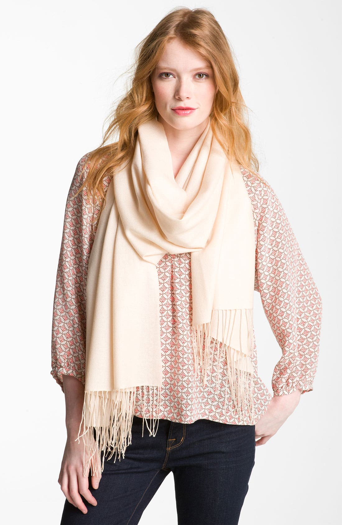,                             Tissue Weight Wool & Cashmere Wrap,                             Main thumbnail 26, color,                             210