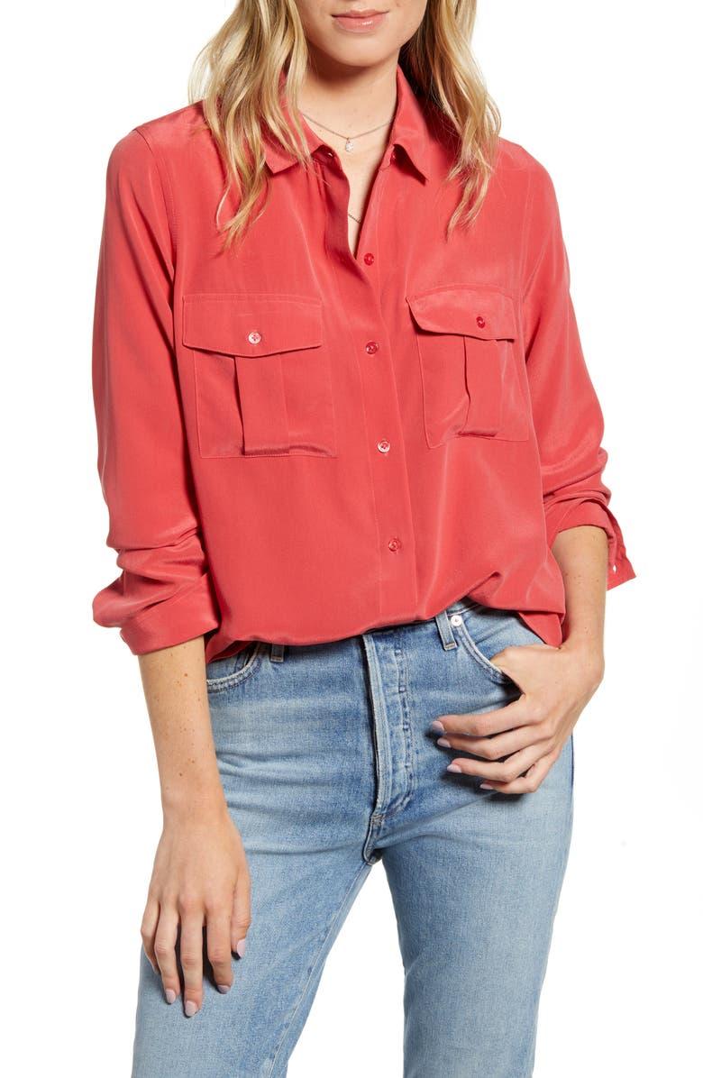 RAILS Rhett Shirt, Main, color, CARMINE