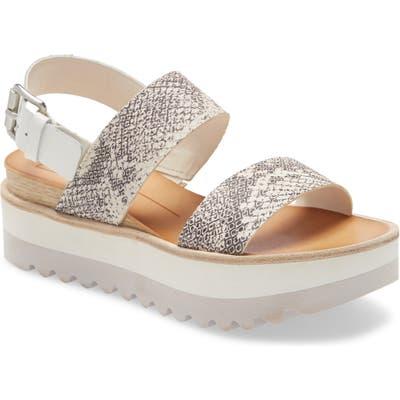 Dolce Vita Moxie Platform Wedge Sandal- Grey
