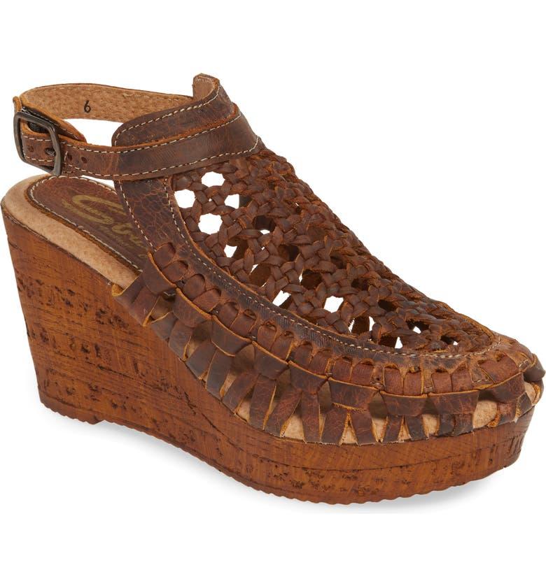 SBICCA Huntspoint Wedge Sandal, Main, color, BROWN