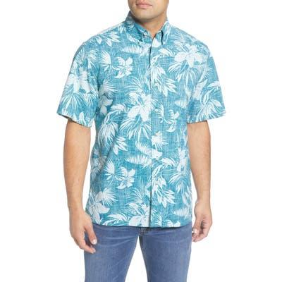 Reyn Spooner Tigerlily Burst Classic Fit Short Sleeve Button-Down Shirt, Green