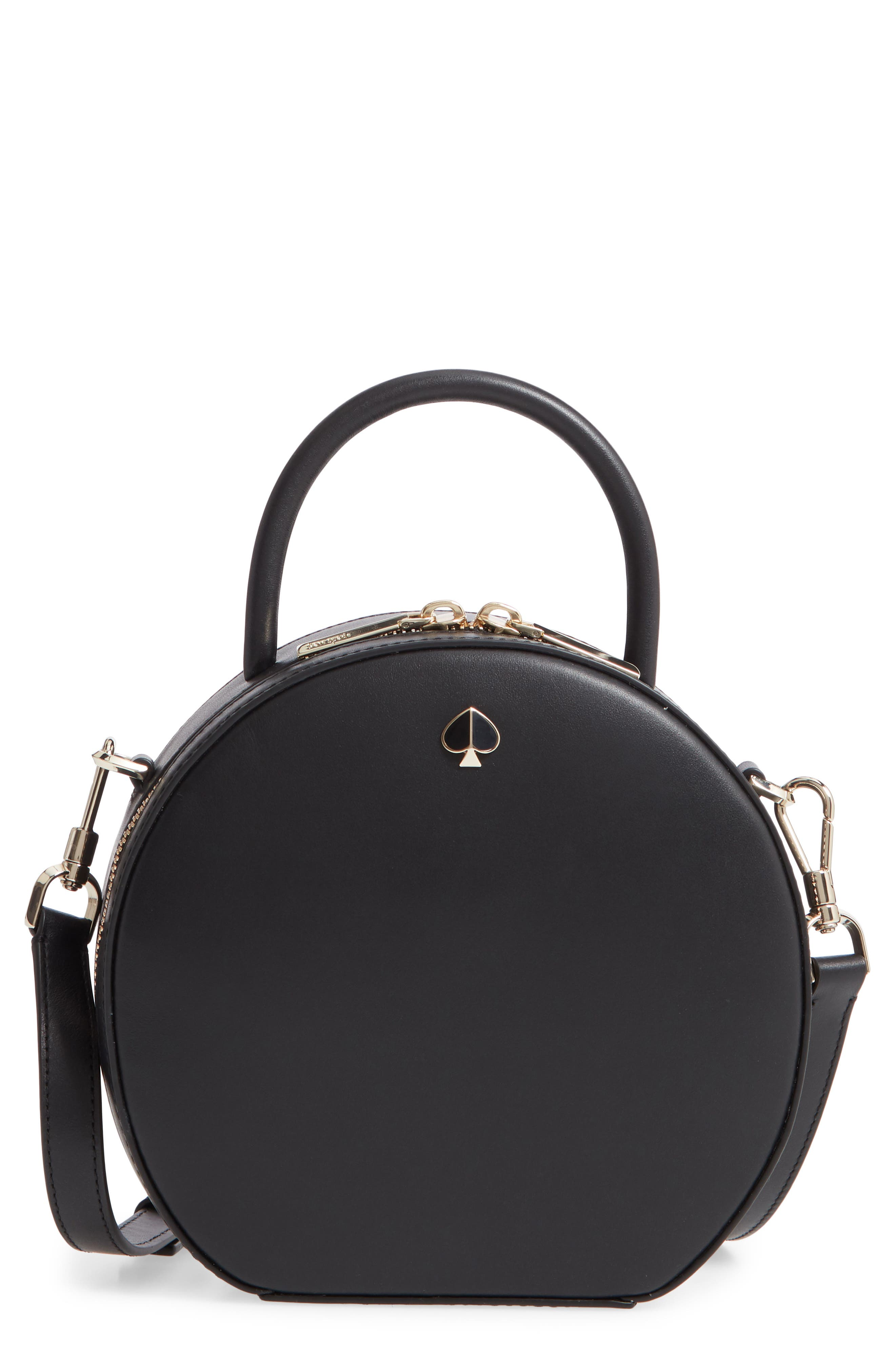 andi canteen leather crossbody bag, Main, color, BLACK