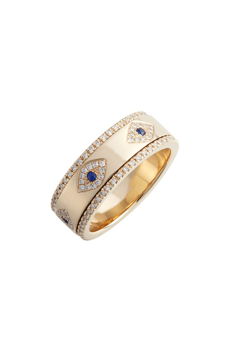 EF COLLECTION Evil Eye Diamond & Sapphire Band Ring, Main, color, 710