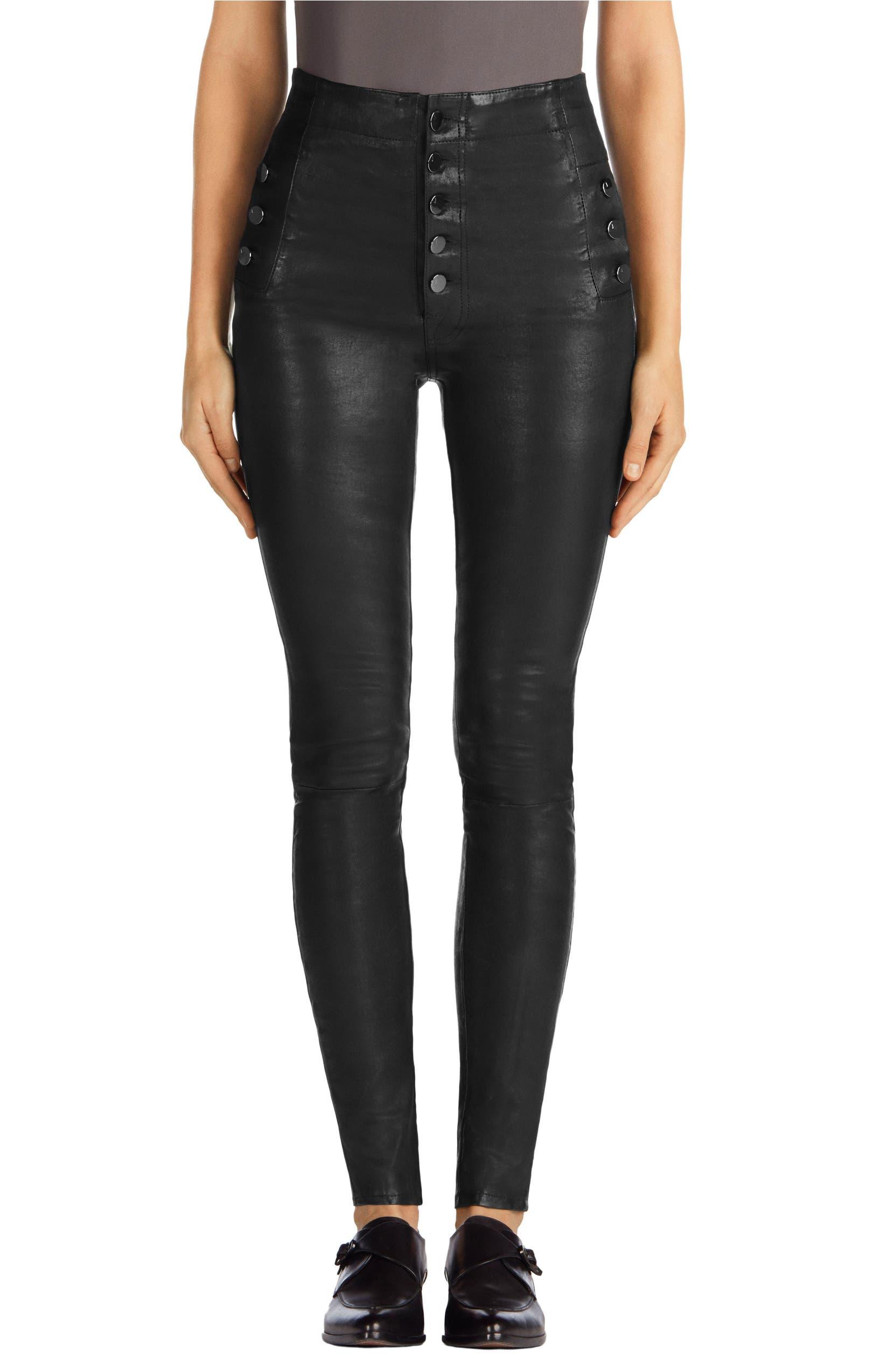9503c7cc12 J Brand Natasha High Waist Skinny Leather Pants | Nordstrom