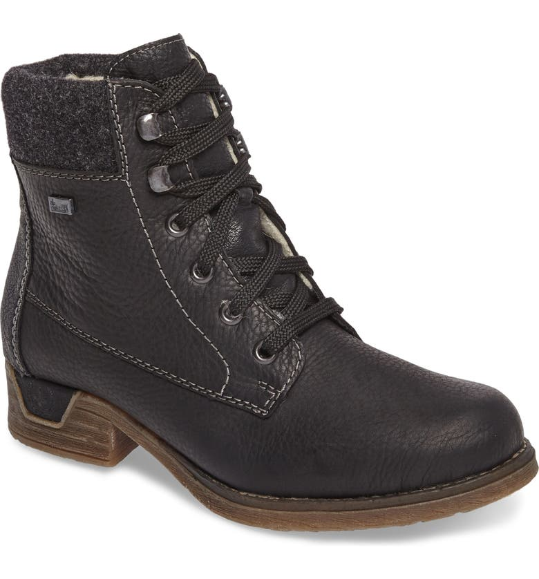RIEKER ANTISTRESS Fee 02 Lace-Up Boot, Main, color, 001