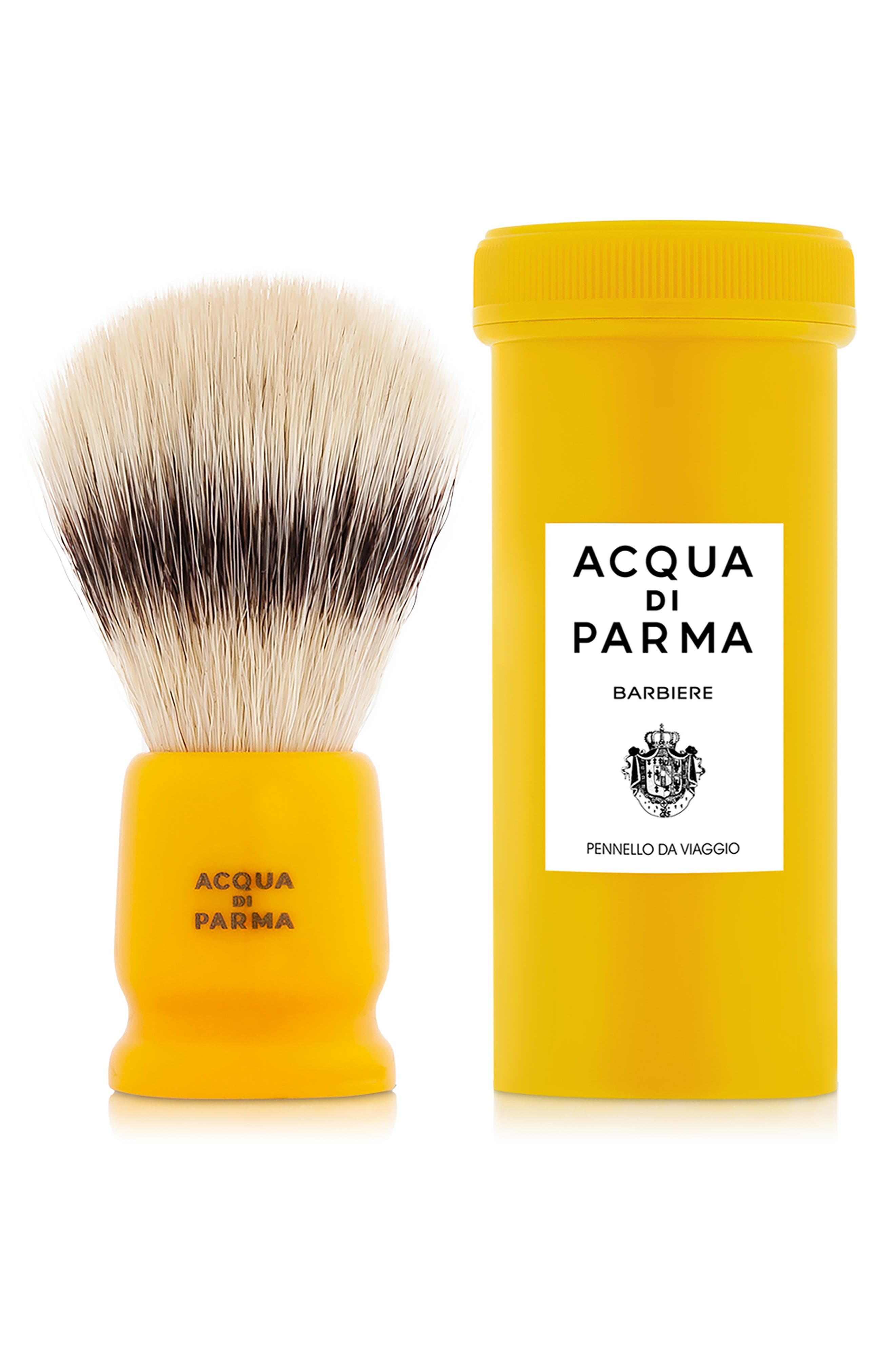 Barbiere Yellow Travel Shaving Brush, Main, color, NO COLOR