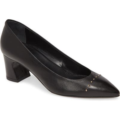 Agl Stud Cap Toe Pump, Black