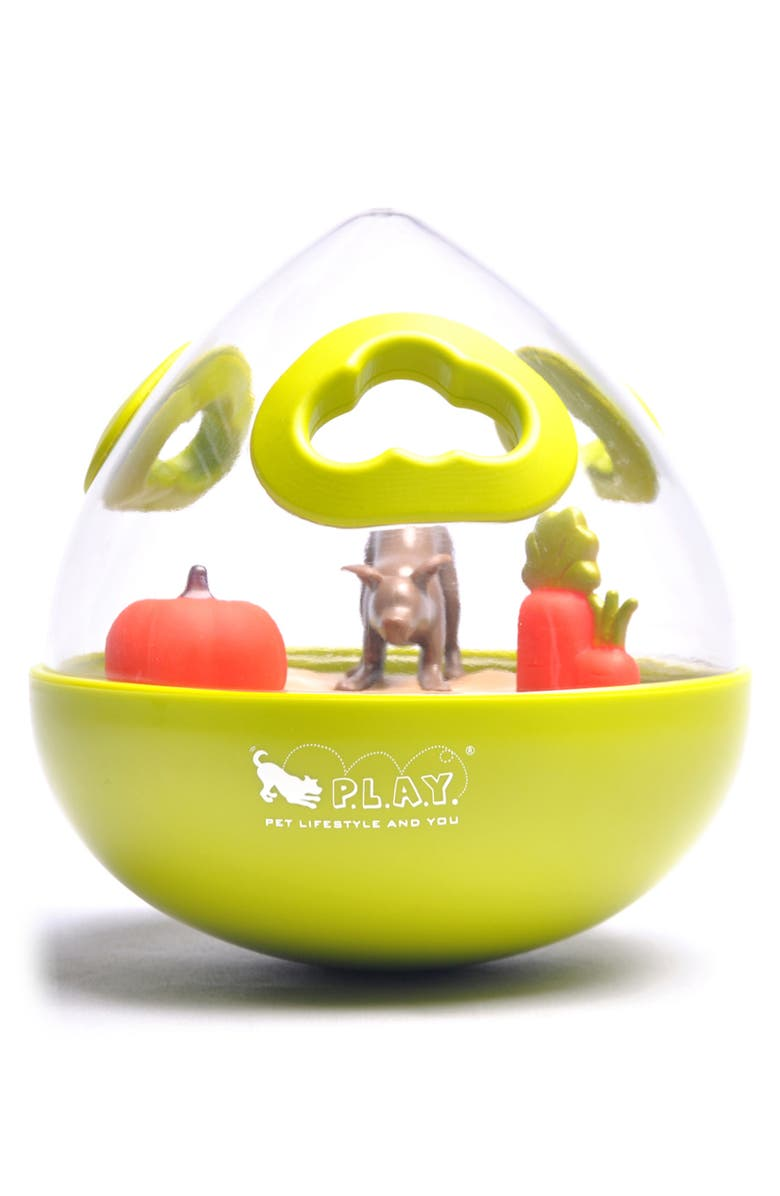 P.L.A.Y . Wobble Ball Dog Toy, Main, color, LIME