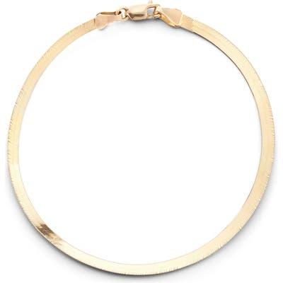 Lana Jewelry Casino Herringbone Chain Bracelet