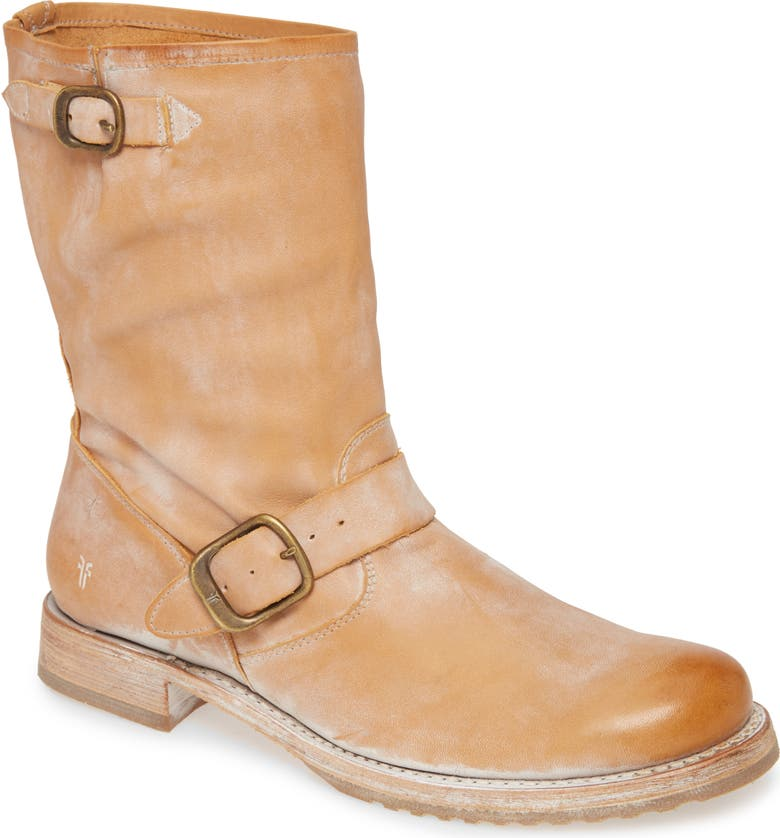 FRYE 'Veronica Short' Slouchy Boot, Main, color, TAN LEATHER