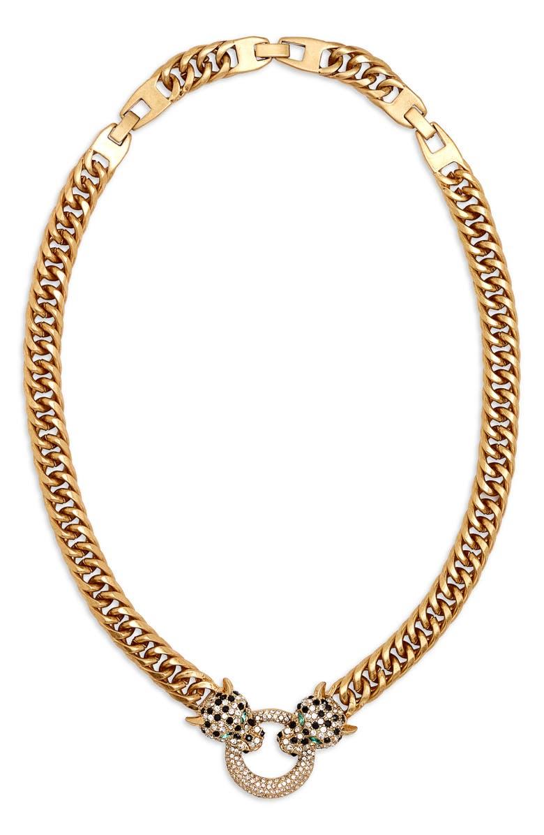 STELLA & DOT Roar Pendant Necklace, Main, color, GOLD/ MULTI