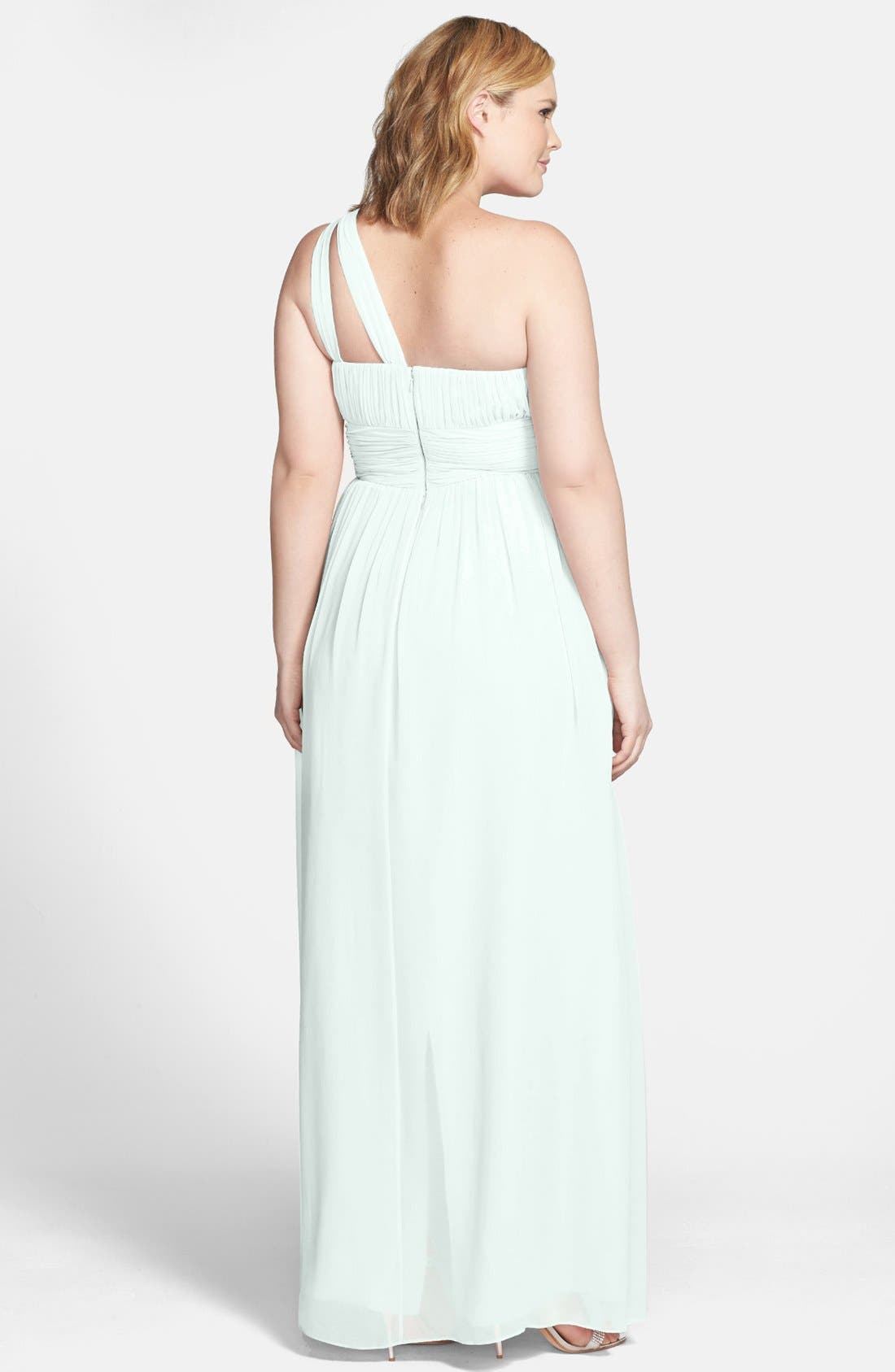 ,                             'Rachel' Ruched One-Shoulder Chiffon Gown,                             Alternate thumbnail 39, color,                             303