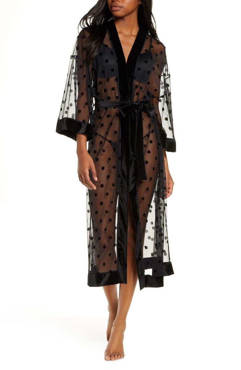 HONEYDEW INTIMATES Love Game Robe, Main, color, BLACK