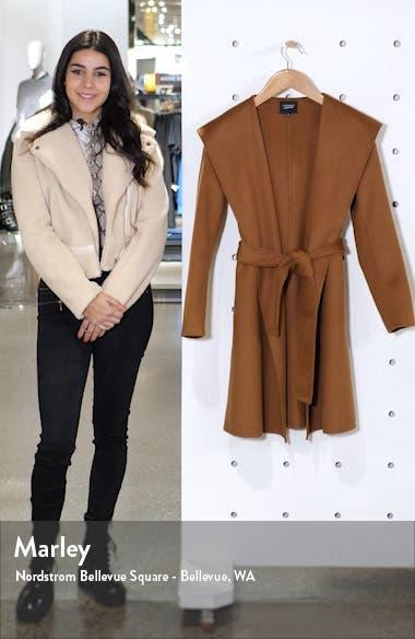 Hooded Wool Blend Coat, sales video thumbnail