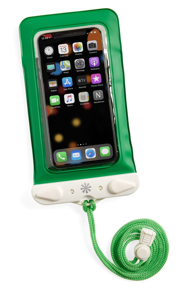 TECH CANDY Dry Spell Water Defender iPhone Bag, Main, color, GREEN