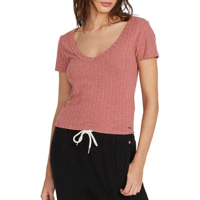 Volcom Lived In Lounge Tee, Pink