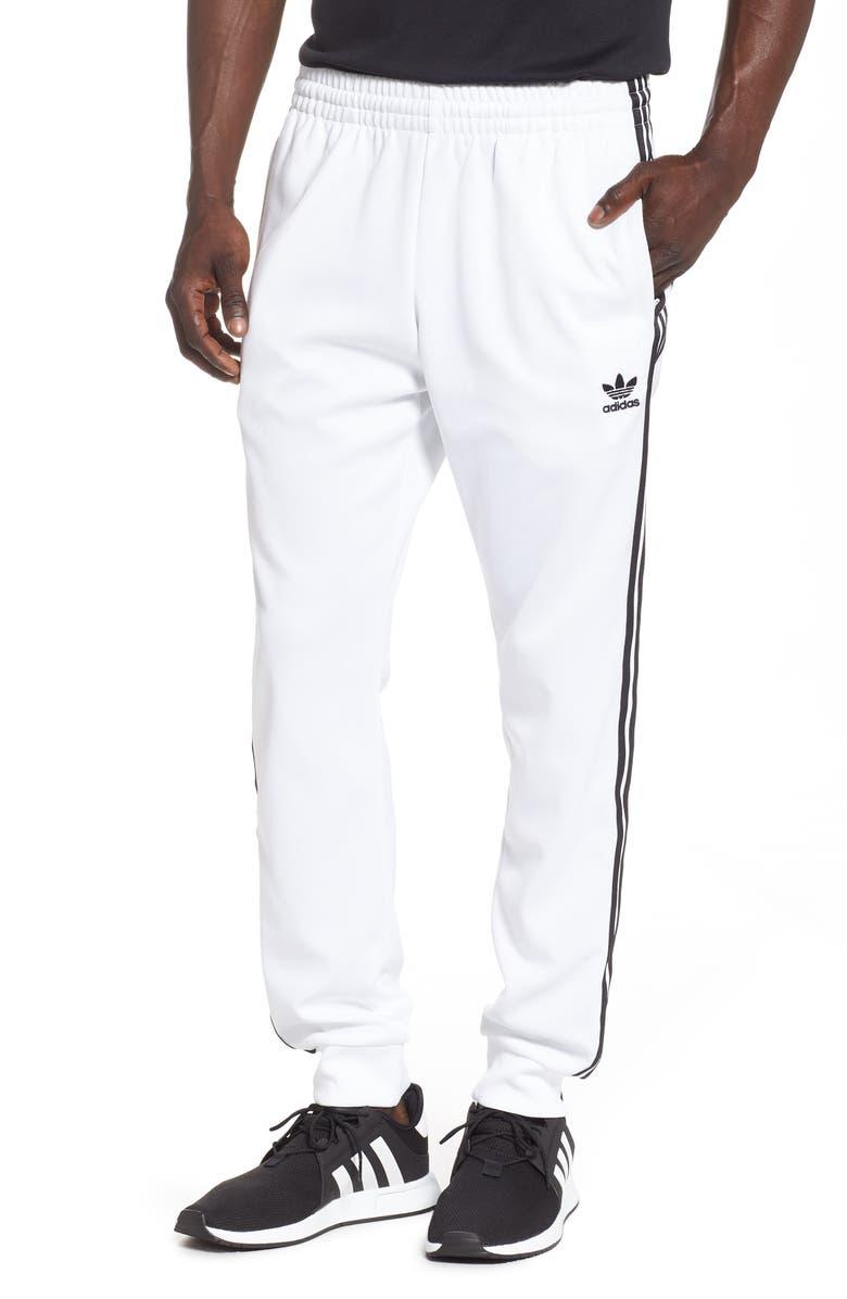 ADIDAS ORIGINALS SST Track Pants, Main, color, WHITE