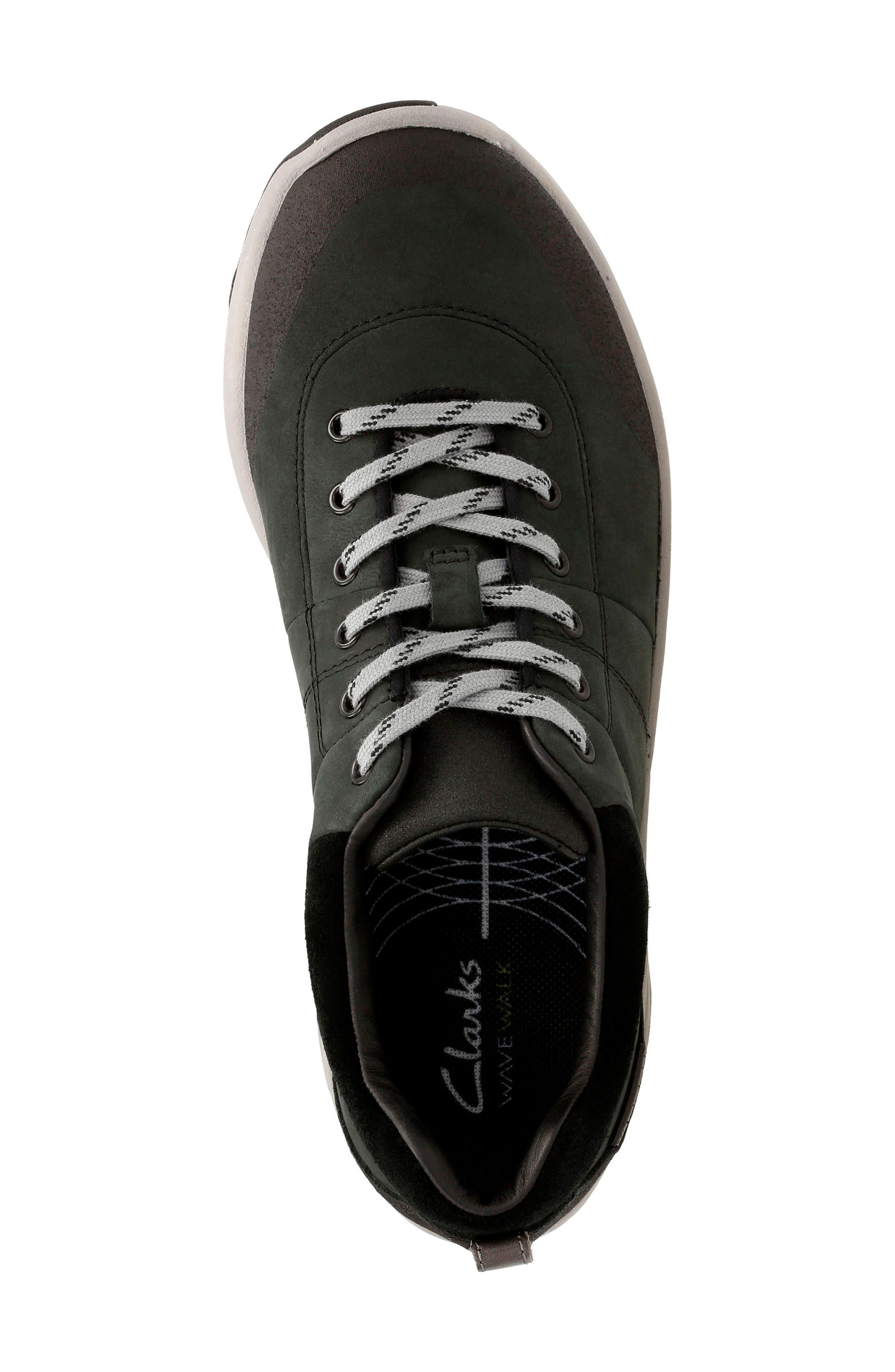 ,                             Wave Andes Sneaker,                             Alternate thumbnail 4, color,                             BLACK NUBUCK LEATHER
